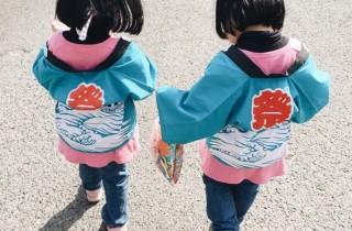 这种可以让心情从阴天变成晴天的可爱萌娃,当然要一次拥有两个!可爱日本双胞胎准备融化你的心!